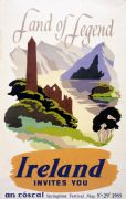 Land of Legend, Irish Travel vintage railway poster